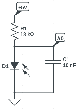 schematic of photocell