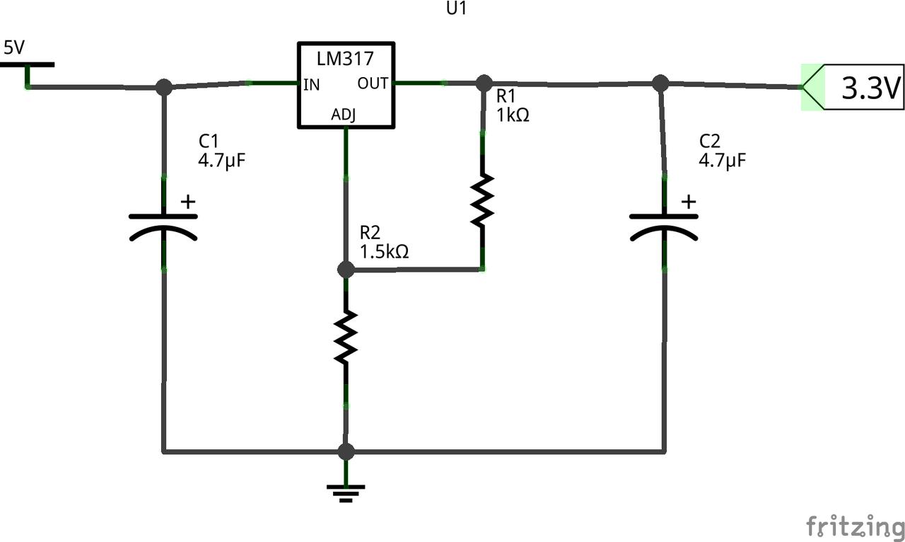 Voltage Regulator Madflex Switching Circuit Using Lm317 Schematic The Source Of Image Is In Https Githubcom Opendata Stuttgart Sensors Software Blob Master Schematics Dividerfzz
